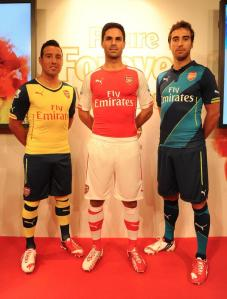 Here are all three looks for the 2014/15 season